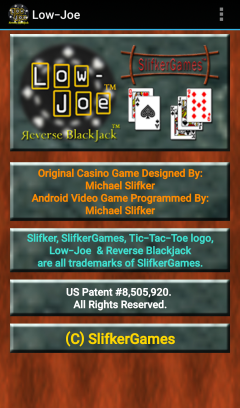 Low-Joe Reverse Blackjack (Picture 1)